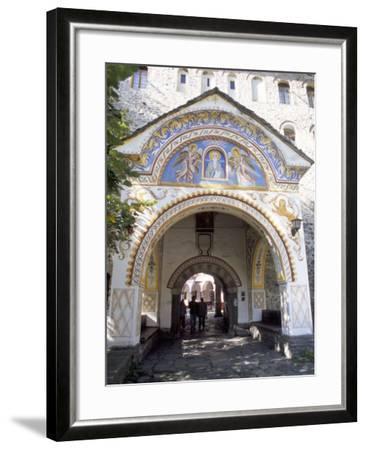 Samokov Gate of Rila Monastery, Unesco World Heritage Site, Rila Mountains, Bulgaria-Richard Nebesky-Framed Photographic Print