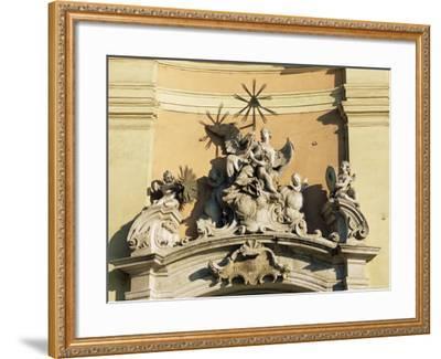 Facade Detail of City's Finest Baroque Church of Holy Trinity, Bratislava, Slovakia-Richard Nebesky-Framed Photographic Print