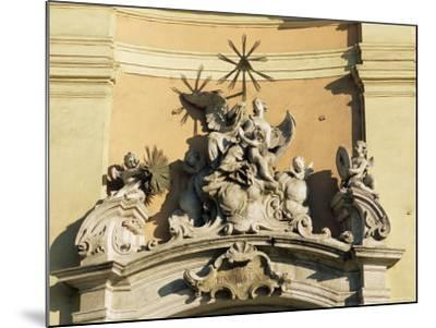 Facade Detail of City's Finest Baroque Church of Holy Trinity, Bratislava, Slovakia-Richard Nebesky-Mounted Photographic Print