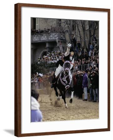 Sartiglia, Oristano, Sardinia, Italy-Oliviero Olivieri-Framed Photographic Print