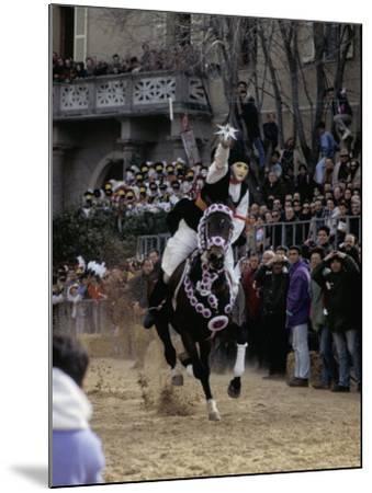 Sartiglia, Oristano, Sardinia, Italy-Oliviero Olivieri-Mounted Photographic Print