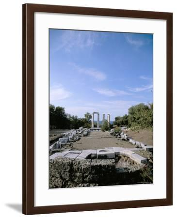 Temple of Nike, Samothraki (Samothrace), Aegean Islands, Greek Islands, Greece-Oliviero Olivieri-Framed Photographic Print