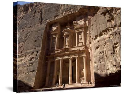 The Treasury Building (Al Khazneh), Petra, Unesco World Heritage Site, Jordan, Middle East-Sergio Pitamitz-Stretched Canvas Print