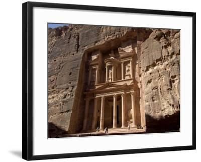 The Treasury Building (Al Khazneh), Petra, Unesco World Heritage Site, Jordan, Middle East-Sergio Pitamitz-Framed Photographic Print