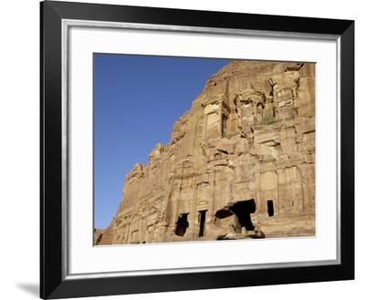 Corinthian Tomb, Petra, Unesco World Heritage Site, Jordan, Middle East-Sergio Pitamitz-Framed Photographic Print