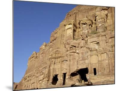 Corinthian Tomb, Petra, Unesco World Heritage Site, Jordan, Middle East-Sergio Pitamitz-Mounted Photographic Print