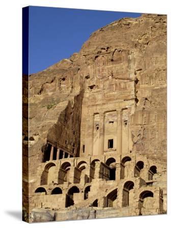 Urn Tomb, Petra, Unesco World Heritage Site, Jordan, Middle East-Sergio Pitamitz-Stretched Canvas Print