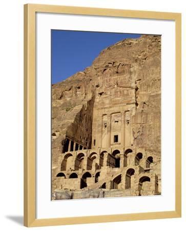 Urn Tomb, Petra, Unesco World Heritage Site, Jordan, Middle East-Sergio Pitamitz-Framed Photographic Print