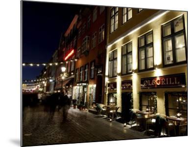 Nyhavn at Christmas, Copenhagen, Denmark, Scandinavia-Sergio Pitamitz-Mounted Photographic Print