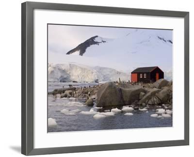 British Base, Port Lockroy, Antarctic Peninsula, Antarctica, Polar Regions-Sergio Pitamitz-Framed Photographic Print
