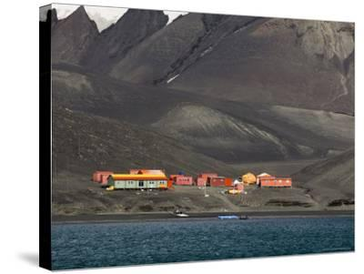 Spanish Base, Deception Island, South Shetland Islands, Antarctica, Polar Regions-Sergio Pitamitz-Stretched Canvas Print