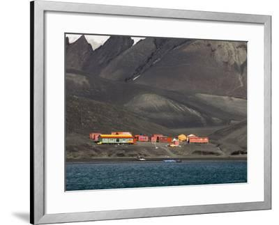 Spanish Base, Deception Island, South Shetland Islands, Antarctica, Polar Regions-Sergio Pitamitz-Framed Photographic Print