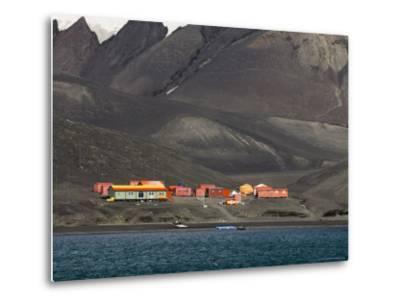 Spanish Base, Deception Island, South Shetland Islands, Antarctica, Polar Regions-Sergio Pitamitz-Metal Print