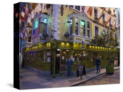 The Oliver St. John Gogarty Pub, Temple Bar, Dublin, County Dublin, Republic of Ireland (Eire)-Sergio Pitamitz-Stretched Canvas Print