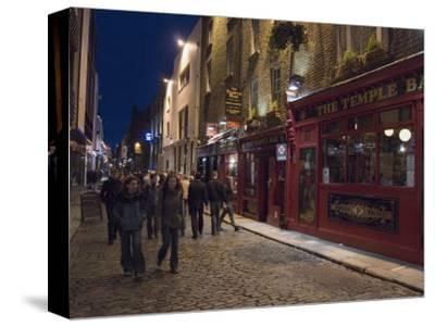 The Temple Bar Pub, Temple Bar, Dublin, County Dublin, Republic of Ireland (Eire)-Sergio Pitamitz-Stretched Canvas Print