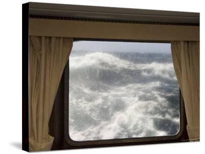 View from Cabin on Antarctic Dream Navigation on Rough Seas Near Cape Horn-Sergio Pitamitz-Stretched Canvas Print