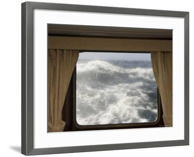 View from Cabin on Antarctic Dream Navigation on Rough Seas Near Cape Horn-Sergio Pitamitz-Framed Photographic Print