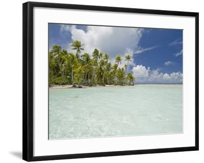 Blue Lagoon, Rangiroa, Tuamotu Archipelago, French Polynesia Islands-Sergio Pitamitz-Framed Photographic Print