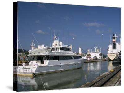 Miraflores Locks, Panama Canal, Panama, Central America-Sergio Pitamitz-Stretched Canvas Print