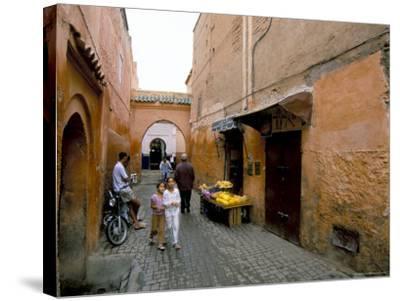 Souk, Marrakech (Marrakesh), Morocco, North Africa, Africa-Sergio Pitamitz-Stretched Canvas Print