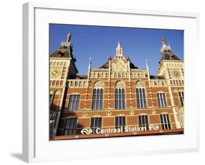 Central Station, Amsterdam, the Netherlands (Holland)-Sergio Pitamitz-Framed Photographic Print