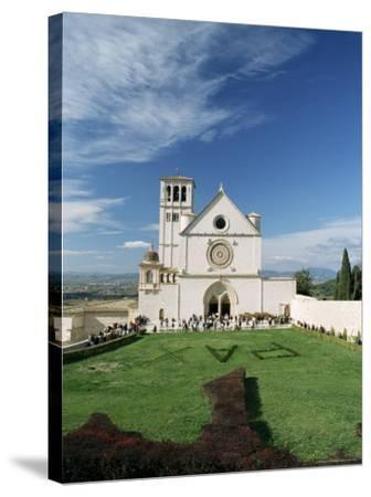 Basilica Di San Francesco, Where the Body of St. Francis was Placed in 1230, Assisi, Umbria-Sergio Pitamitz-Stretched Canvas Print