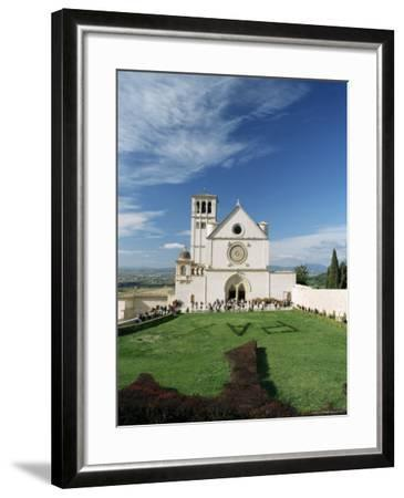 Basilica Di San Francesco, Where the Body of St. Francis was Placed in 1230, Assisi, Umbria-Sergio Pitamitz-Framed Photographic Print