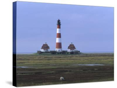 Lighthouse, Westerhever, Schleswig-Holstein, Germany-Thorsten Milse-Stretched Canvas Print