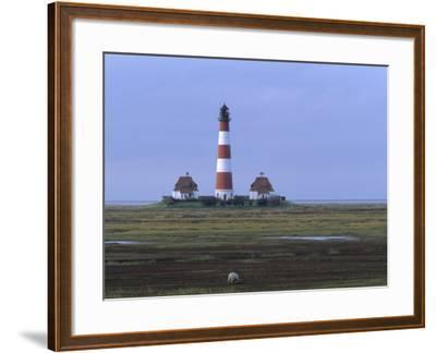 Lighthouse, Westerhever, Schleswig-Holstein, Germany-Thorsten Milse-Framed Photographic Print