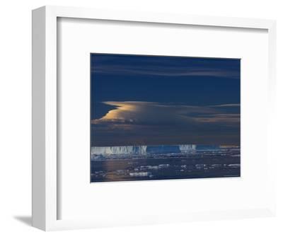 Iceberg and Pack Ice, Weddell Sea, Antarctic Peninsula, Antarctica, Polar Regions-Thorsten Milse-Framed Photographic Print
