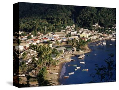 View Over Soufriere, St. Lucia, Windward Islands, West Indies, Caribbean, Central America-Yadid Levy-Stretched Canvas Print