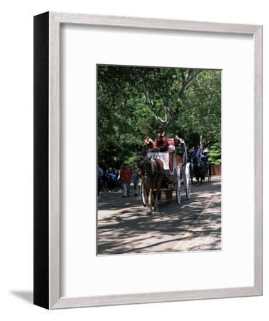 Horse Drawn Carriage in Central Park, Manhattan, New York, New York State, USA-Yadid Levy-Framed Photographic Print