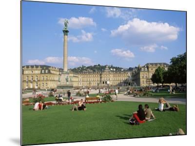 Schlossplatz, King Wilhelm Jubilee Column, Neues Schloss, Stuttgart, Baden Wurttemberg, Germany-Yadid Levy-Mounted Photographic Print