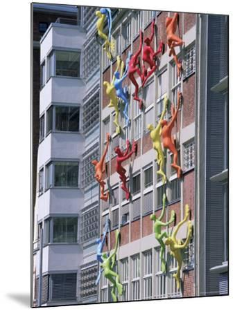 Flossies Figures Covering a Building Facade at the Medienhafen, Dusseldorf, North Rhine Westphalia-Yadid Levy-Mounted Photographic Print