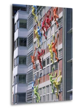 Flossies Figures Covering a Building Facade at the Medienhafen, Dusseldorf, North Rhine Westphalia-Yadid Levy-Metal Print