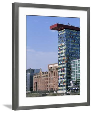 The Colorium Building by William Alsop at the Medienhafen, Dusseldorf, North Rhine Westphalia-Yadid Levy-Framed Photographic Print