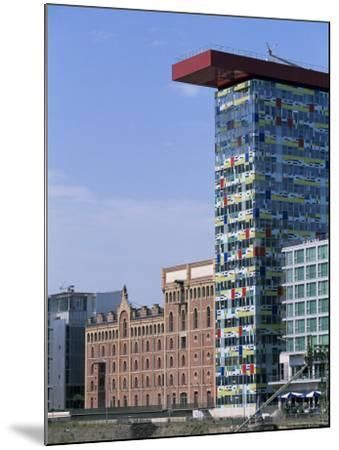 The Colorium Building by William Alsop at the Medienhafen, Dusseldorf, North Rhine Westphalia-Yadid Levy-Mounted Photographic Print