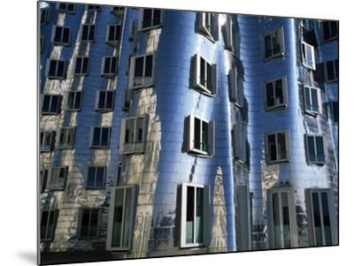 The Neuer Zollhof Building by Frank Gehry at the Medienhafen, Dusseldorf, North Rhine Westphalia-Yadid Levy-Mounted Photographic Print