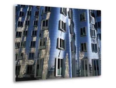 The Neuer Zollhof Building by Frank Gehry at the Medienhafen, Dusseldorf, North Rhine Westphalia-Yadid Levy-Metal Print