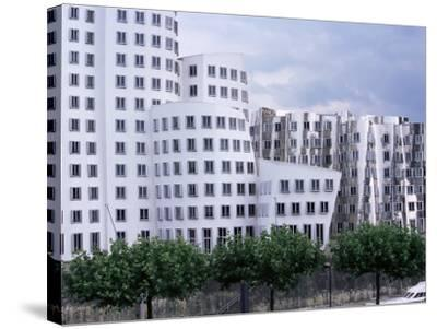 The Neuer Zollhof Building by Frank Gehry at the Medienhafen, Dusseldorf, North Rhine Westphalia-Yadid Levy-Stretched Canvas Print