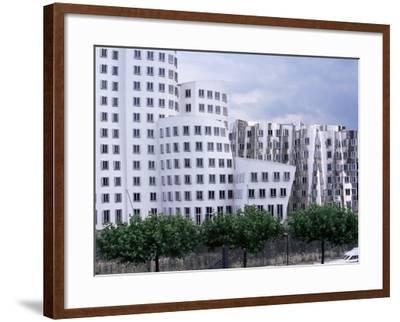 The Neuer Zollhof Building by Frank Gehry at the Medienhafen, Dusseldorf, North Rhine Westphalia-Yadid Levy-Framed Photographic Print