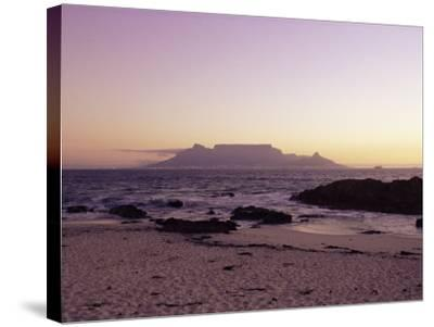 View to Table Mountain from Bloubergstrand, Cape Town, South Africa, Africa-Yadid Levy-Stretched Canvas Print