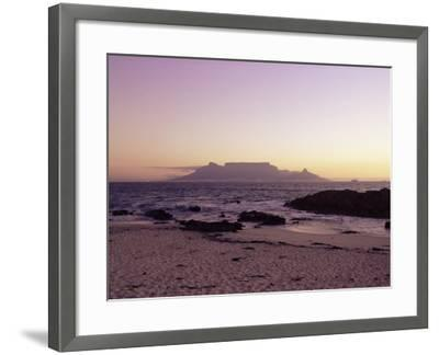 View to Table Mountain from Bloubergstrand, Cape Town, South Africa, Africa-Yadid Levy-Framed Photographic Print