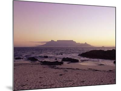 View to Table Mountain from Bloubergstrand, Cape Town, South Africa, Africa-Yadid Levy-Mounted Photographic Print