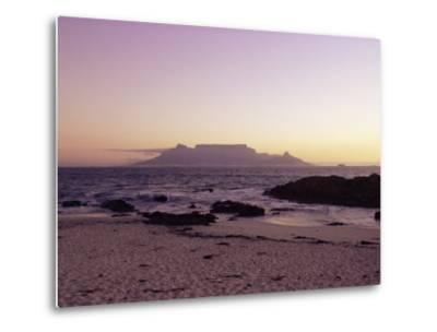 View to Table Mountain from Bloubergstrand, Cape Town, South Africa, Africa-Yadid Levy-Metal Print