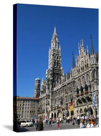 City Hall, Marienplatz, Munich, Bavaria, Germany-Yadid Levy-Stretched Canvas Print