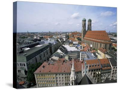 City Skyline Dominated by the Frauenkirche Towers, Munich, Germany-Yadid Levy-Stretched Canvas Print