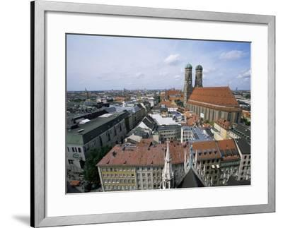 City Skyline Dominated by the Frauenkirche Towers, Munich, Germany-Yadid Levy-Framed Photographic Print