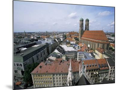 City Skyline Dominated by the Frauenkirche Towers, Munich, Germany-Yadid Levy-Mounted Photographic Print