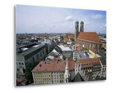 City Skyline Dominated by the Frauenkirche Towers, Munich, Germany-Yadid Levy-Metal Print